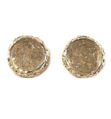 Mini Druzy Studs Earrings