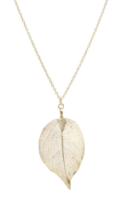 Cutout Leaf Pendant Necklace - Shellsea