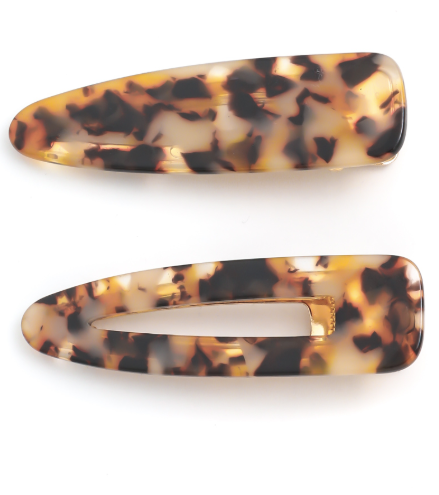 Tortoise Shell Hair Clip Set (2)