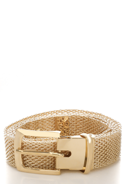 Gold Mesh Chain Belt