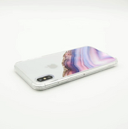 Pink & Blue Agate iPhone Case