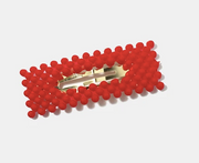 Rectangle Dotted Snap Hair Clip