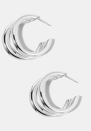 Mini Triple Hoop Earrings