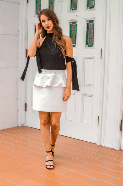 Better When Beaded Skirt White - Shellsea