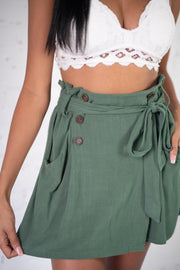 Fool For You Skort Olive