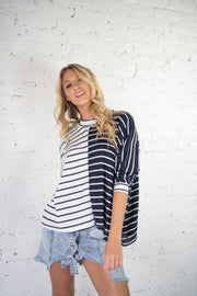 Dual The Right Thing Striped Top