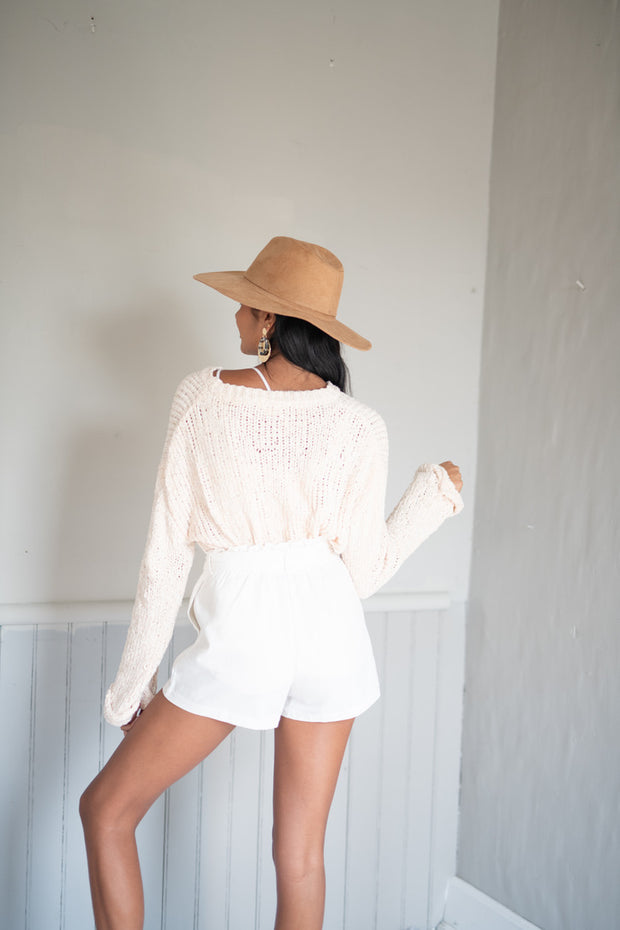 Soft In The Act Chenille Sweater Cream