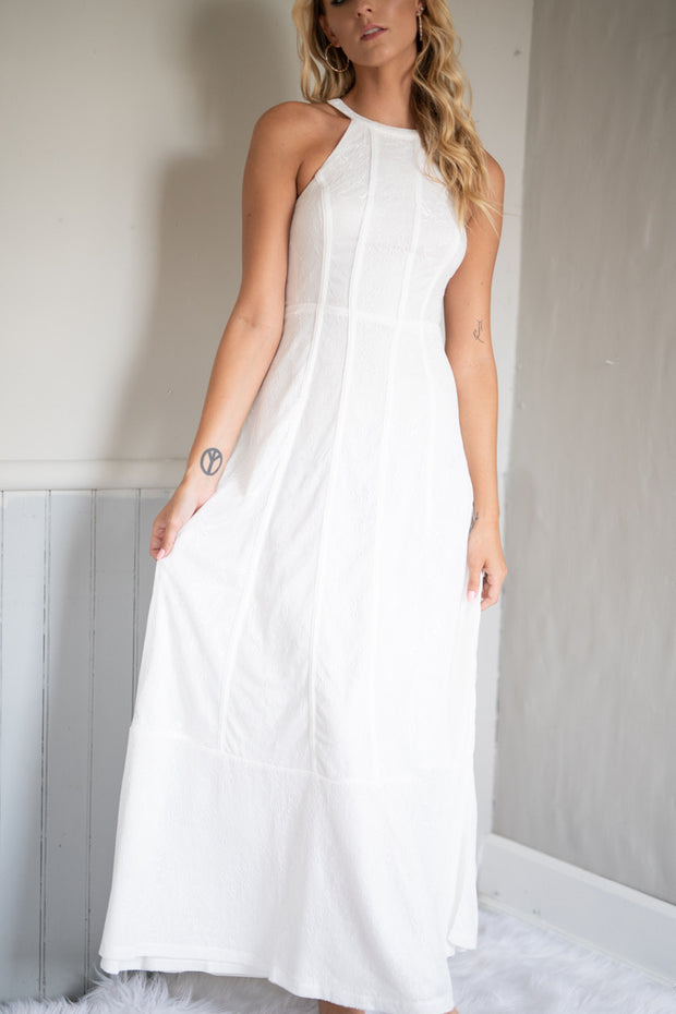I Can Hear The Bells Maxi Dress White