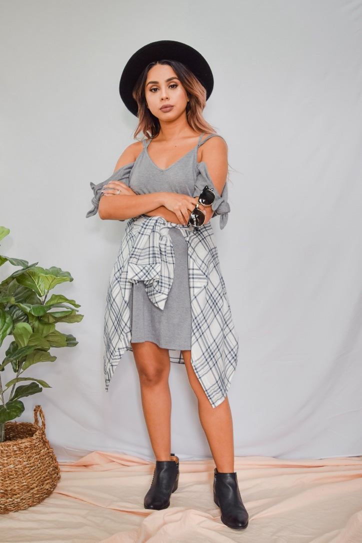 Just Say Yes Dress Gray