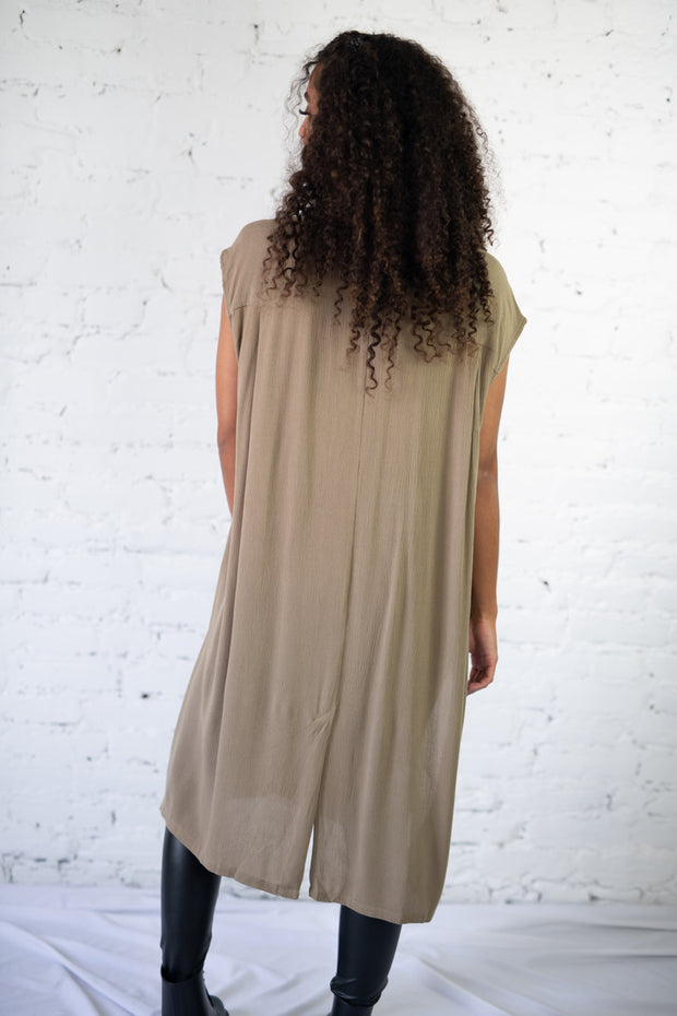 Highs and Lows Tunic Olive