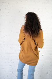Keeping Cozy Sweater Mustard