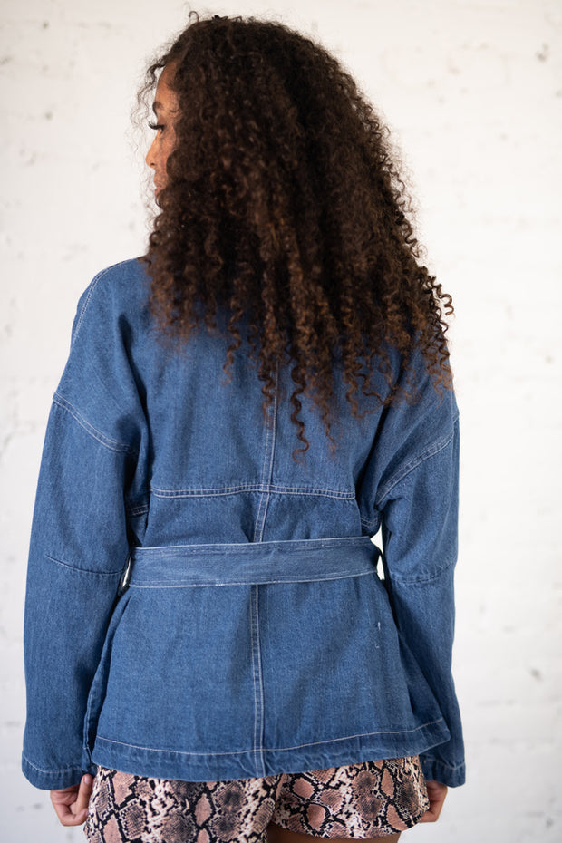Heartwarming Oversized Denim Jacket