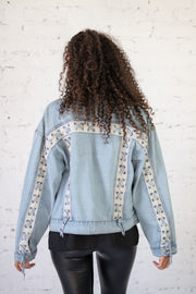 Lace Up Denim Jacket Light