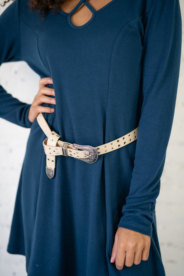 Studded Embellished Buckle Belt