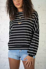 Sweet On Stripes Sweater Black