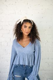 Always Be My Babydoll Top Blue