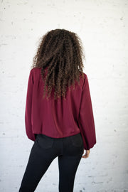 Evening Breeze Jacket Burgundy