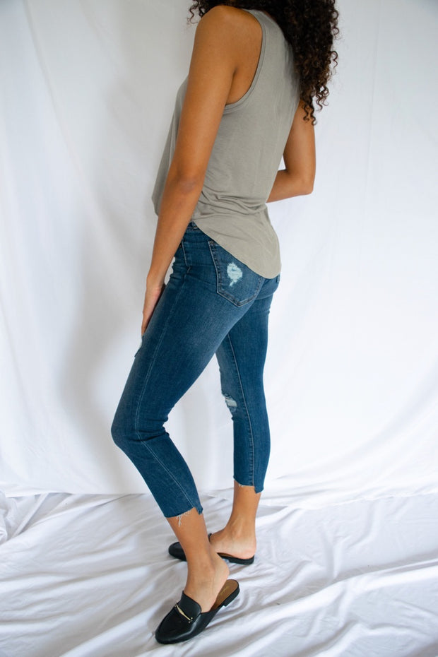 Denim Dreaming Cropped Jeans Dark