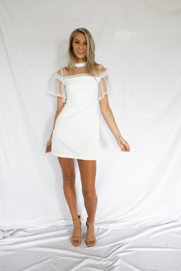 We Mesh Well Dress White