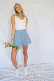 Easygoing Linen Shorts Blue