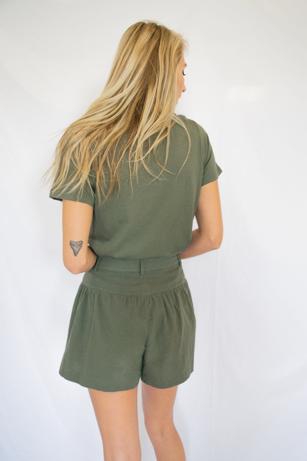Basically Basic Tee Olive - Shellsea