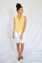 Such A Delight Sleeveless Top Yellow
