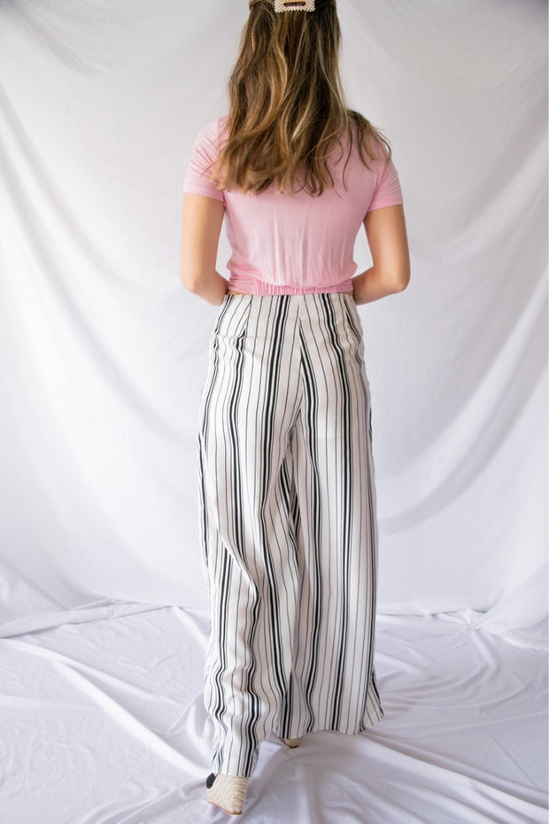 Same Way Striped Pants Ivory