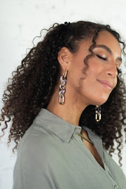 Acetate Chain Link Earrings
