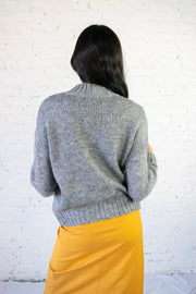 Braid My Day Sweater Grey