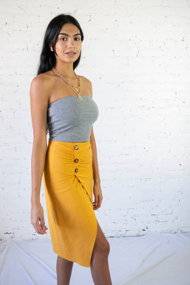 It Girl Status Skirt Mustard
