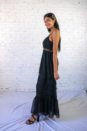 Anything Flows Maxi Dress Black
