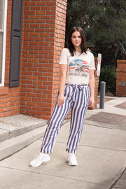 Beach Date Striped Linen Pants - Shellsea