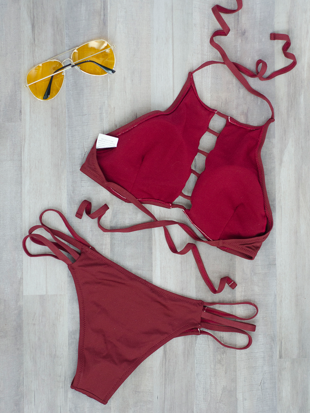 Perfect Bikini Top Burgundy - Shellsea