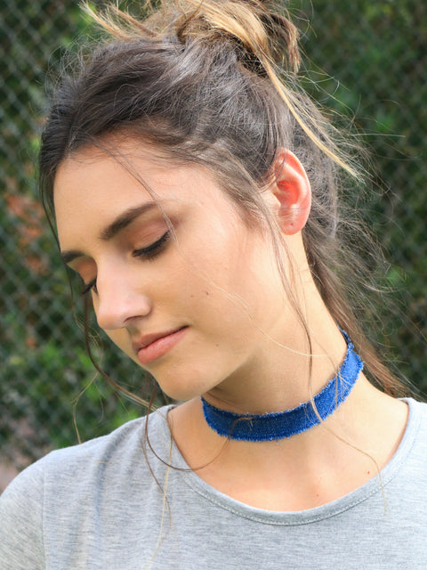 Britney Denim Choker (4 pc) - Shellsea