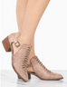 Braided Booties Warm Taupe - Shellsea