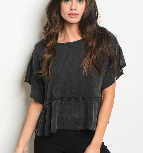 Girls Bite Back Top Charcoal - Shellsea