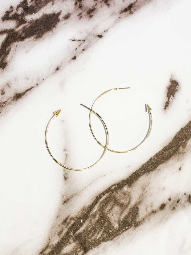 Stone Edge Hoops Gold - Shellsea