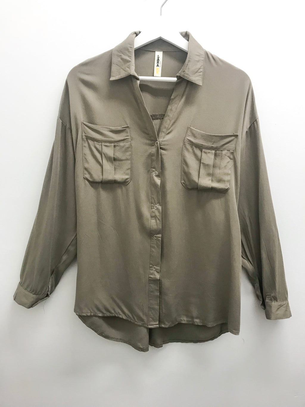Sample Simplicity Button Up Olive
