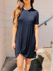 Chai Me A River Tunic Black - Shellsea