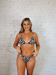 Maybe Sun Day Leopard Bikini Top