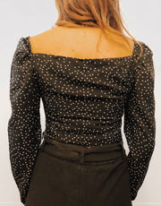 Miss Mischief Polka Dot Crop Top - Shellsea