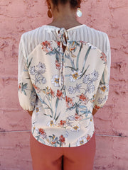 Being Honest Floral Top Beige - Shellsea