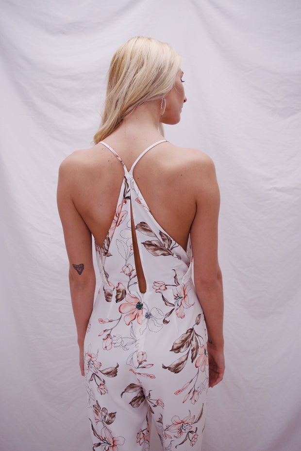 Stay For A While Jumpsuit Ivory
