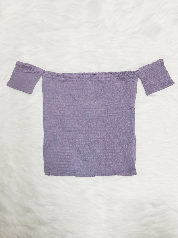 Sun City Crop Top Lavender