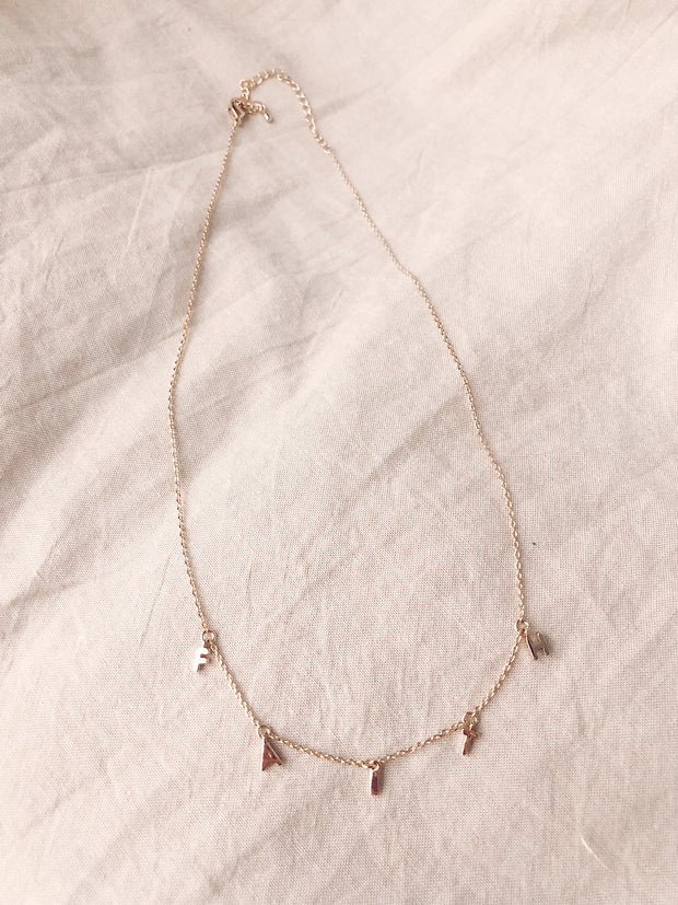 Dainty FAITH Necklace