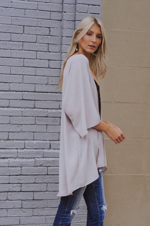 Out Of Sight Kimono Lavender