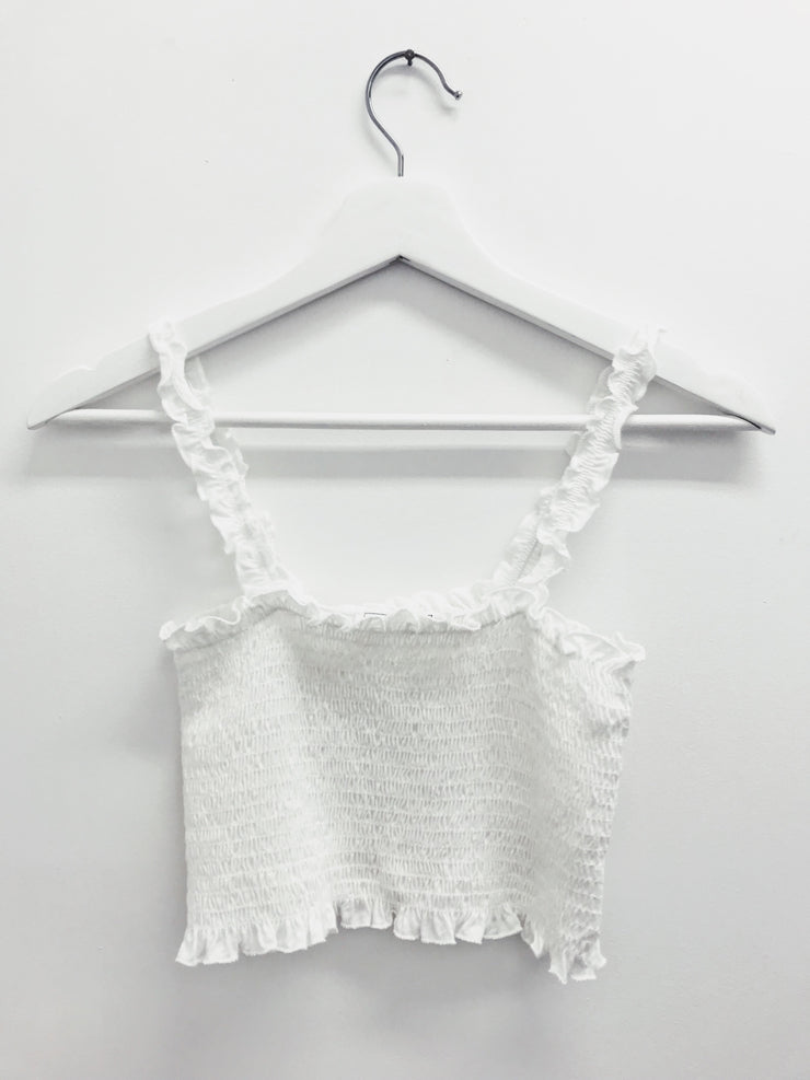 Dream Of The Crop Top White - Shellsea