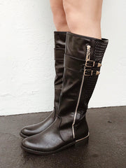 Perfect Situation Tall Boot Black - Shellsea