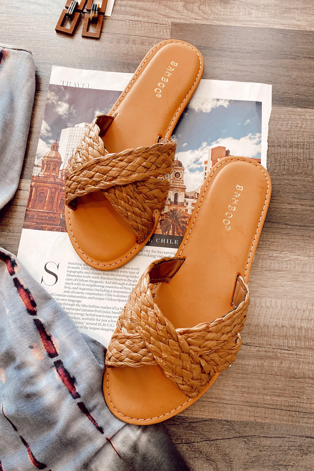 Woven You Like To Know Sandals Tan