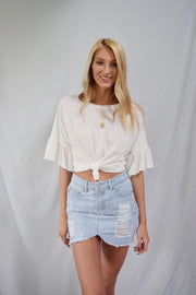 Love Of Ruffles Top Ivory